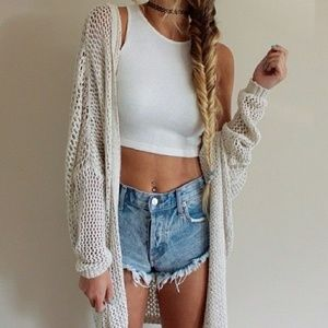 Brandy Melville oversized knit open cardigan.
